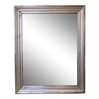 19th Century Traditional Large Silverleaf Mirror For Sale