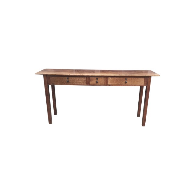 Antique Three-Drawer Console Table - Image 1 of 11