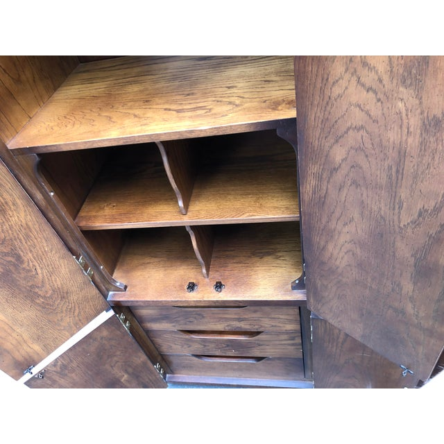 Campaign Henredon Scene One Campaign Style Armoire Cabinets 1980s - a Pair For Sale - Image 3 of 12