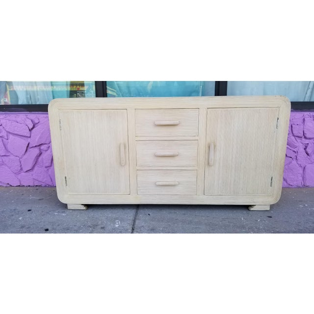 We are delighted to offer for sale a stunning Vintage / Palm Beach, Tropical chic Gabriella Crespi Attribute whitewash...