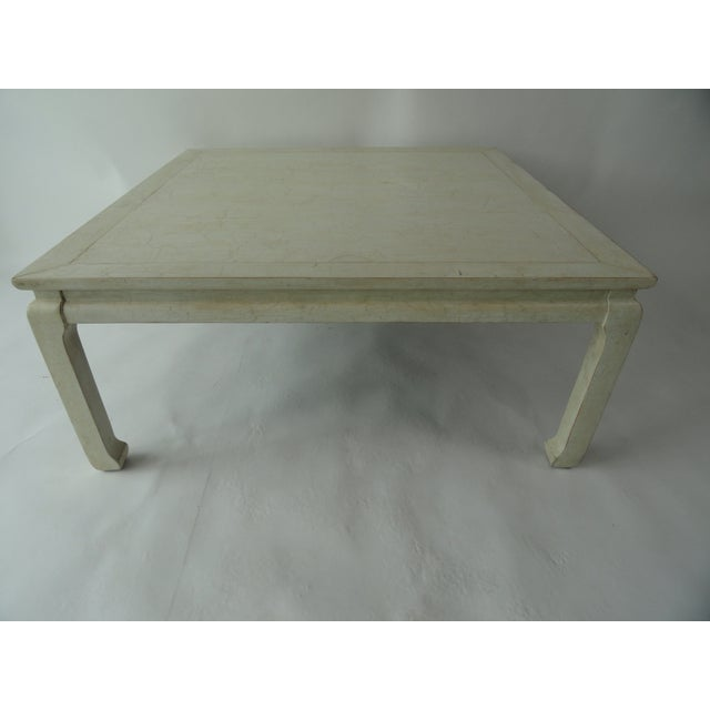 Antique White 20th Century Ming Style Coffee Table For Sale - Image 8 of 8