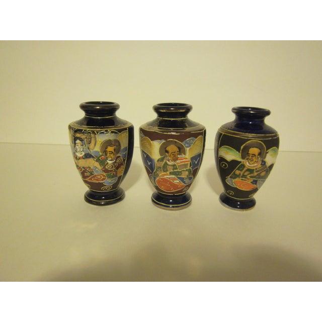 Vintage 1950s Japanese Satsuma Vases - Set of 5 - Image 9 of 11