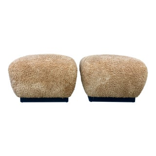 Pair Marge Carson Large Ottomans For Sale