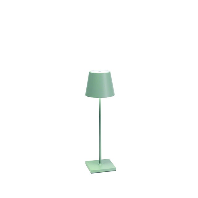 Modern Zafferano Sage Green Rechargeable Indoor/Outdoor Cordless Table Lamp For Sale - Image 3 of 3