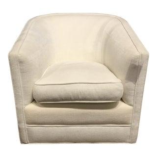 BSC Larsen Swivel Barrel Club Chair For Sale