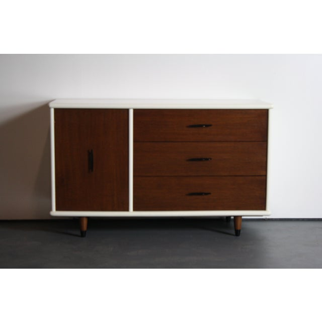 2-Tone Mid Century Modern Dresser For Sale In Orlando - Image 6 of 8