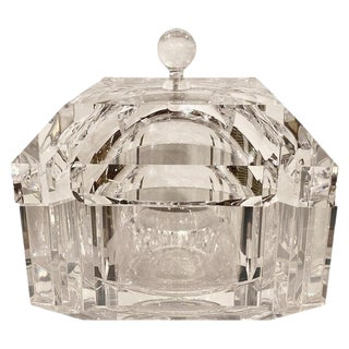 Mid-Century Modern Lucite Large Covered Box or Casket For Sale