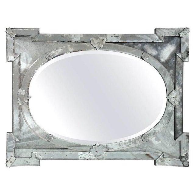 Hollywood Regency Venetian Mirror With Elegant Shield Design, 1940's For Sale - Image 9 of 13