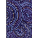 Image of Contemporary Schumacher Patterson Flynn Martin Malachite Hand-Tufted Wool Silk Rug - 6' X 9' For Sale