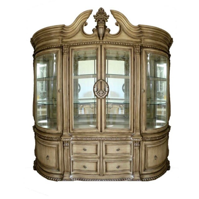 Baroque Style Illuminated China Cabinet For Sale - Image 13 of 13