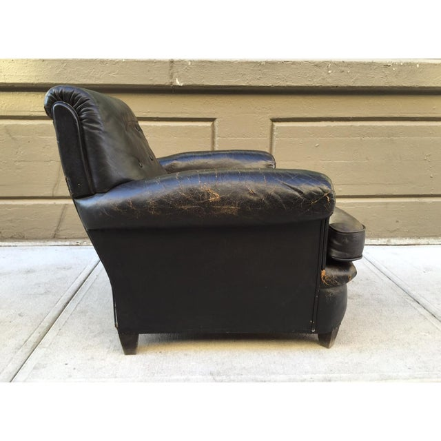 Traditional Pair 1930s English Leather Club Chairs For Sale - Image 3 of 10