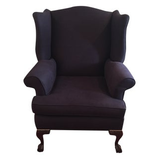 Navy Wingback Chair Libeco Linen