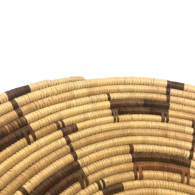 African Deer Motif Woven Basket For Sale - Image 4 of 10