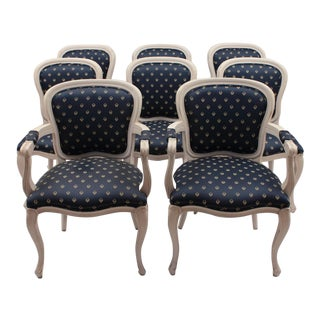 Vintage French Style Dining Chairs- Set of 8 For Sale