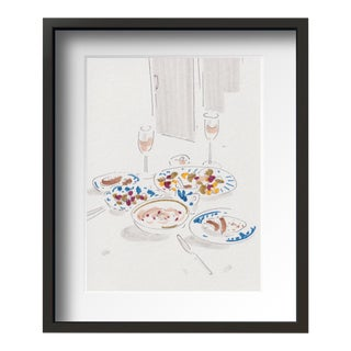 """Daily Still Life 1 "" Contemporary Still Life Drawing With Frame By Tang Wen Ching For Sale"