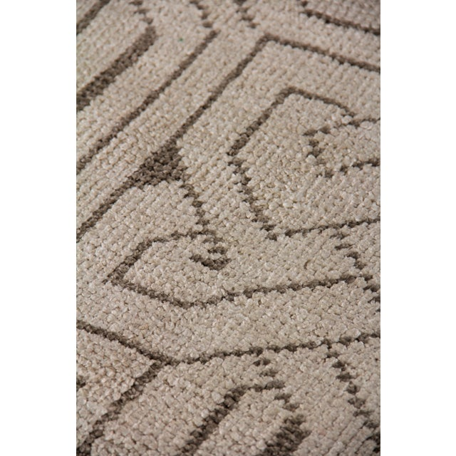 Transitional Cambrai Flatweave Wool Ivory/Gray Rug - 9'x12' For Sale - Image 3 of 7