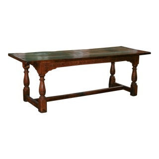 18th Century Gothic Refectory Table For Sale
