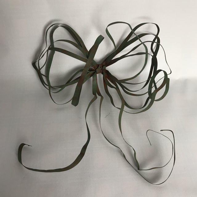 Vintage Green Tole Bow - Image 6 of 6