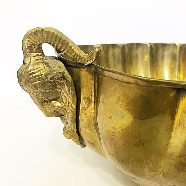 Brass Footed Ram Head Bowl - Image 4 of 8