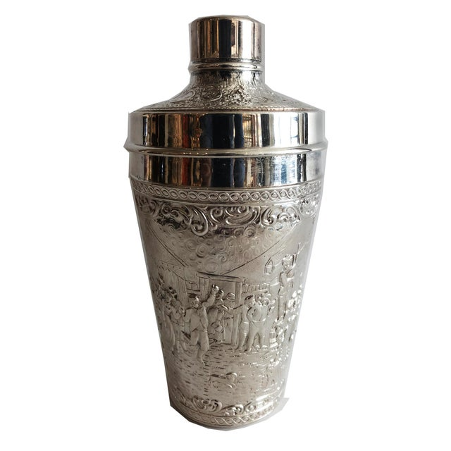 Metal 19th C. Barbour Repoussed Cocktail Shaker For Sale - Image 7 of 7