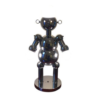 Vintage Chrome Robot Lamp, Made in Italy by Torino For Sale