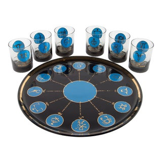 1960's Zodiac Barware Set For Sale