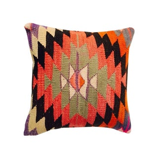 Bright Turkish Kilim Pillow