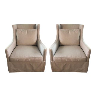 Lillian August Harper Swivel Chairs - a Pair For Sale