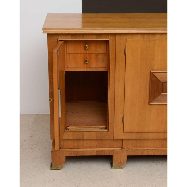 Jules Leleu Fine French Modern Fruitwood Sideboard or Buffet by Jules Leleu For Sale - Image 4 of 9