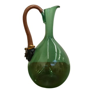 Mid-Century Green Pitcher For Sale