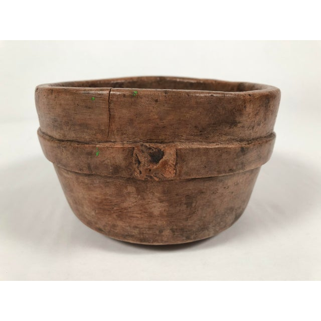 Early Primitive Carved Wood Bowl For Sale - Image 11 of 12