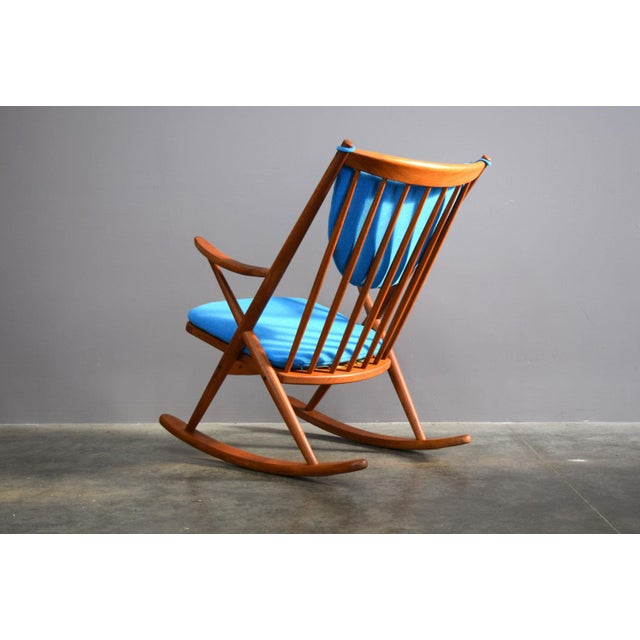 Nanna Ditzel Beautifully Restored Teak Danish Frank Reenskaug Rocker For Sale - Image 4 of 9