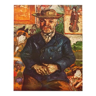"1950s Vincent Van Gogh, ""Pere Tanguy"" First Edition Vintage Lithograph Print For Sale"