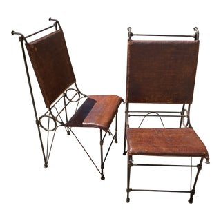 Pair of Brutalist Chairs Attributed to Ilana Goor For Sale