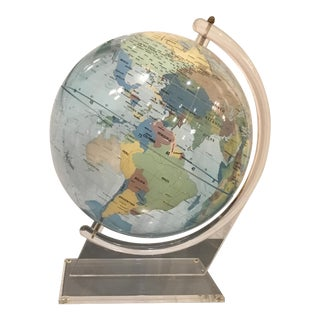 Mid Century Modern Trippensee Planetarium Co. Acrylic Spectrum Globe on Stand