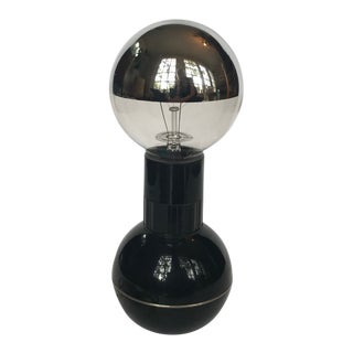 Vintage Enzo Mari Black Dumbbell Lamp For Sale