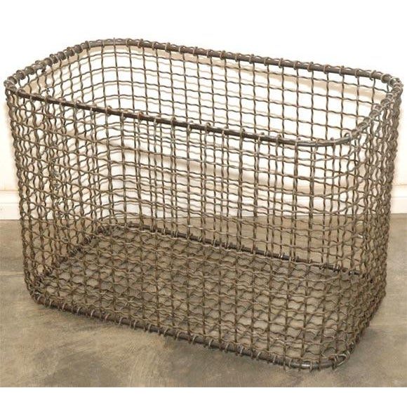 Rustic JW Wire Basket For Sale - Image 3 of 9