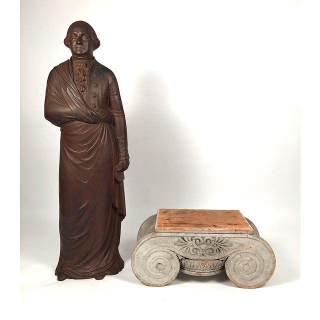 American Large 19th Century George Washington Cast Iron Stove Figure For Sale - Image 3 of 13
