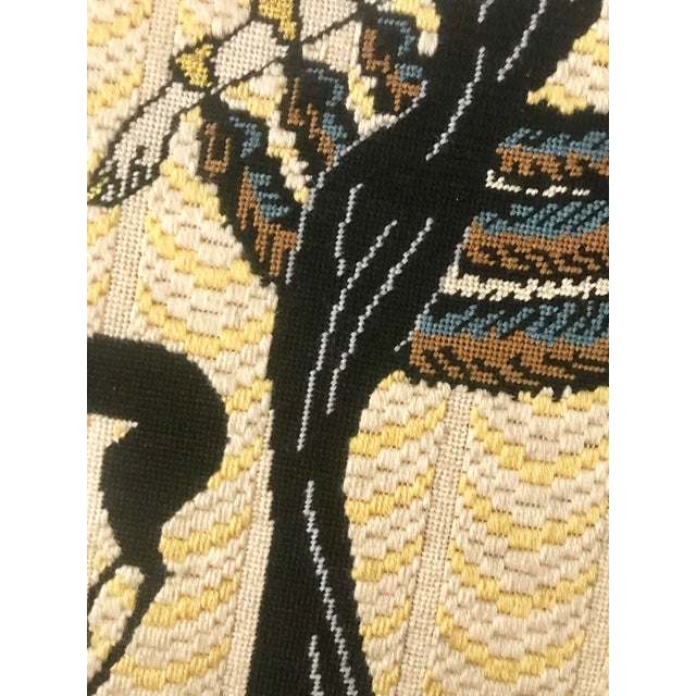 Vintage Wall Art Needlepoint Erte's Symphony in Black or Gloria Swanson? For Sale - Image 4 of 7
