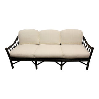 McGuire Mid Century Bamboo Sofa/Settee/Loveseat/Couch For Sale