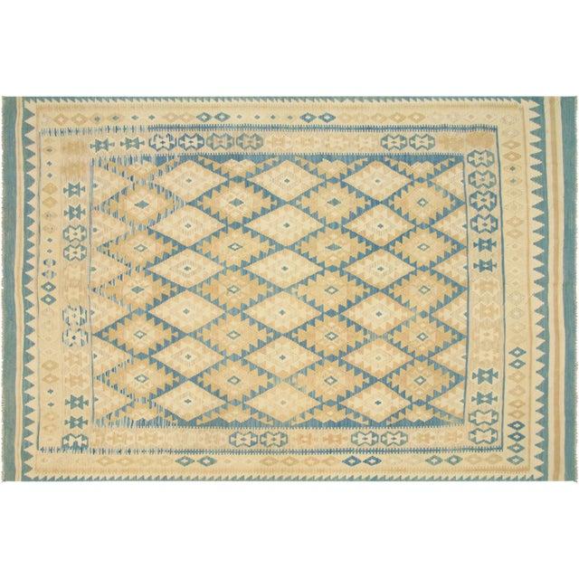 "Afghan Maimana Kilim Flatweave Rug -- 6'8"" x 9'10"" - Image 1 of 3"