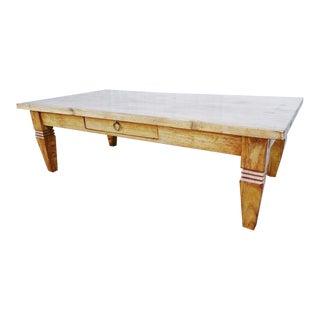 Rustic French European Oak Wood Coffee Table