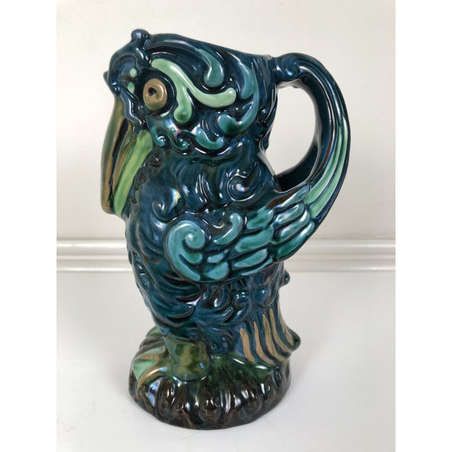 Longpark English Art Pottery Bird Pitcher For Sale - Image 12 of 13