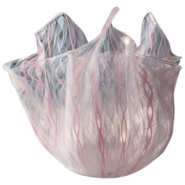Signed Venini Fazzoletto Handkerchief Glass Vase by Fulvio Bianconi For Sale In Chicago - Image 6 of 6