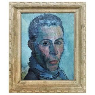 Boris Solotareff, Portrait of Mr. Lautenberg, Vintage Oil on Canvas Painting, 1920's