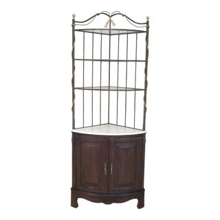 Country French Corner Display Cabinet Shelf For Sale