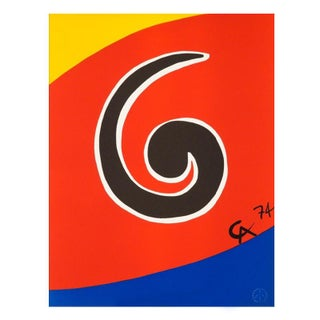 "Original Astonishing Calder ""Swirl"" Limited Edition Print Lithograph 1974 For Sale"