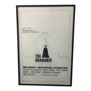 "1967 Vintage Original ""The Graduate Framed Movie Poster Pre-Oscar For Sale"