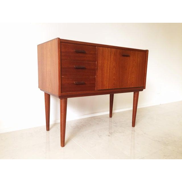Vintage Danish Modern Teak Mini Chest Cabinet - Image 7 of 7