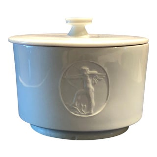 "Vintage Mid-Century KPM Royal Berlin ""Arkadia"" Porcelain Sugar Bowl For Sale"
